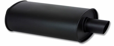"""Vibrant """"Flat Black series"""" Stainless Steel Universal Mufflers 2.5"""" inlet/outlet"""