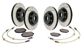 Stoptech Stage 2 With Slotted Rotors